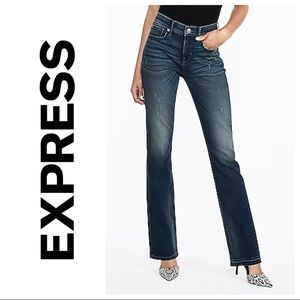Express Mid Rise Perfect Curves  Barely Boot Jeans